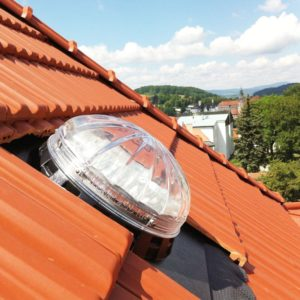Pitched Roof Crystal Glass Sun Tunnel