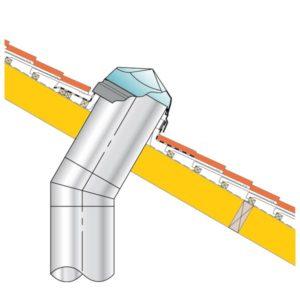 Bold roll tile roof sun tunnel