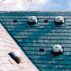 Slate roof sun tunnels